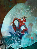 Marvel Adventures Spider-Man No.48 Cover: Spider-Man Wall Decal by Francis Tsai