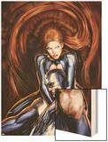Secret Invasion: Inhumans No.4 Cover: Black Bolt and Medusa Wood Print by Stjepan Sejic