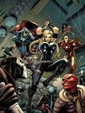 Fear Itself: The Fearless No.6 Cover: Valkyrie, Iron Man, Captain America, Sin, and Crossbones Znaki plastikowe autor Arthur Adams