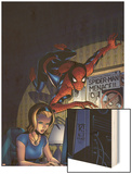 Friendly Neighborhood Spider-Man No.5 Cover: Spider-Man Wood Print by Mike Wieringo