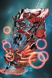 Thunderbolts Annual 1 Cover: Red Hulk, Elektra, Punisher, Leader, Deadpool, Venom, Dr. Strange Wall Decal by Carlo Barberi