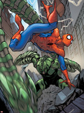 The Amazing Spider-Man No.654 Cover: Spider-Man and Scorpion Fighting Plastic Sign by Stefano Caselli