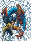 Marvel Team Up No.5 Cover: X-23 and Spider-Man Plastic Sign by Scott Kolins
