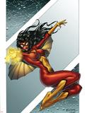 Giant-Size Spider-Woman No.1 Cover: Spider Woman Signe en plastique rigide par Andrea Di Vito