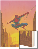 Spectacular Spider-Man No.27 Cover: Spider-Man Swinging Wood Print by Mark Buckingham