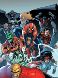The Amazing Spider-Man No.667: Spider-Man, Thing, Captain America, Dagger, Cloak, and Others Prints by Humberto Ramos