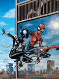 Spider-Girl No.76 Cover: Spider-Girl Lifting Plastic Sign by Ron Frenz