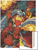 Amazing Spider-Man No.528 Cover: Spider-Ham Wood Print by Mike Wieringo