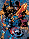 Marvel Knights Spider-Man No.11 Group: Captain America Cartel de plástico por Terry Dodson