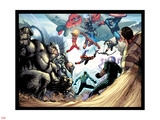 The Amazing Spider-Man No.683: Rhino, Red Hulk, Spider Woman, Thor, Sandman and Others Plastic Sign by Stefano Caselli