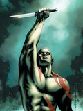 Drax The Destroyer No.4 Cover: Drax The Destroyer Plastic Sign by Mitchell Breitweiser