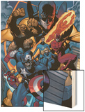 Marvel Knights Spider-Man No.11 Group: Captain America Wood Print by Terry Dodson