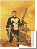 Punisher: War Zone No.6 Cover: Punisher Wood Print by Steve Dillon