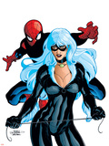 Spider-Man And The Black Cat No.6 Cover: Spider-Man and Black Cat Plastic Sign by Terry Dodson