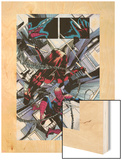 The Amazing Spider-Man No.677: Daredevil and Spider-Man Fighting and Falling Wood Print by Emma Rios