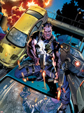 The Punisher No.2 Cover: Punisher Shooting Plastic Sign by Brian Hitch