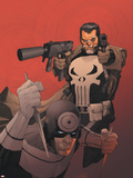 Punisher Vs. Bullseye No.3 Cover: Punisher and Bullseye Plastic Sign by Leinil Francis Yu