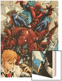 Avenging Spider-Man No.6: Spider-Man Fighting Wood Print by Marco Checchetto