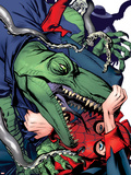 Spider-Man 1602 No.4 Cover: Lizard and Spider-Man Cartel de plástico por Michael Golden
