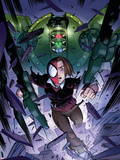 Ultimate Spider-Man No.6 Cover: Spider-Man Plastic Sign by David LaFuente