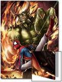 Spider-Man India No.4 Cover: Spider-Man and Green Goblin Prints by Jeevan J. Kang