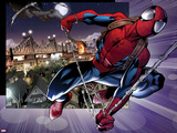 Ultimate Spider-Man No.157: Spider-Man Swinging Plastic Sign by Mark Bagley