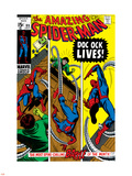 Amazing Spider-Man No.89 Cover: Spider-Man and Doctor Octopus Plastic Sign by Gil Kane