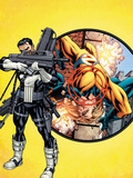Punisher No.1 Cover: Punisher and Sentry Plastic Sign by Mike McKone