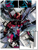 The Amazing Spider-Man No.677: Daredevil and Spider-Man Fighting and Falling Art by Emma Rios