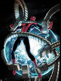 The Amazing Spider-Man No.682 Cover: Spider-Man Trapped in Mechanical Tentacles Plastic Sign by Stefano Caselli