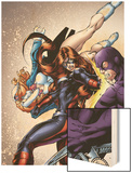 Amazing Spider-Man Presents: Jackpot No.2 Cover: Jackpot and Boomerang Wood Print by Adriana Melo