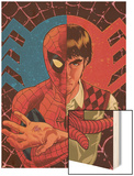 Spider-Man: With Great Power& No.1 Cover: Spider-Man, Peter Parker Wood Print by Tony Harris