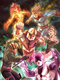 Nova No.20 Cover: Nova, Speedball, Night Thrasher, Firestar and Namorita Plastic Sign by Steve Uy