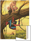 Marvel Adventures Spider-Man No.13 Cover: Ka-Zar and Spider-Man Crouching Out on a Limb Prints by Barry Kitson