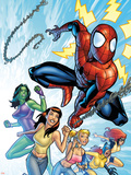 King-Size Spider-Man Summer Special No.1 Cover: Spider-Man, Mary Jane Watson and She-Hulk Plastic Sign by Salvador Espin