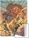 Spider-Man Team-Up Special No.1 Group: Spider-Man Wood Print by Shane Davis