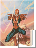Spider-Man Unlimited No.3 Cover: Spider-Man Wood Print by Ale Garza