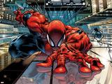 The Sensational Spider-Man No.23 Cover: Spider-Man Veggoverføringsbilde av Angel Medina