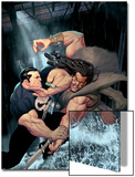 Punisher War Journal No.15 Cover: Punisher and Kraven The Hunter Swinging Art by Ariel Olivetti