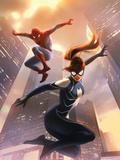 Spider-Girl No.8 Cover: Spider-Girl and Spider-Man Jumping Wall Decal by Jelena Djurdjevic