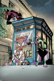 Superior Spider-Man 6 Cover: Spider-Man, Screwball, Jester Plastic Sign by Humberto Ramos