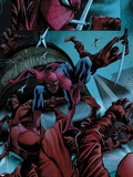 Avenging Spider-Man No.6: Spider-Man Fighting Plastic Sign by Marco Checchetto