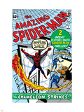 Amazing Spider-Man No.1 Cover: Spider-Man Plastic Sign by Steve Ditko