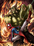 Spider-Man India No.4 Cover: Spider-Man and Green Goblin Wall Decal by Jeevan J. Kang