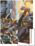 Spider-Man: Breakout No.5 Cover: Spider-Man, Vector, Vapor and Captain America Crouching Wood Print by Manuel Garcia