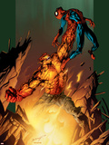 Ultimate Spider-Man No.77 Cover: Hobgoblin and Spider-Man Fighting and Flying Plastic Sign by Mark Bagley