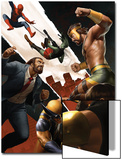 Incredible Hercules No.139 Cover: Hercules, Wolverine and Spider-Man Posters by Michael Bierek
