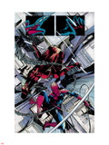 The Amazing Spider-Man No.677: Daredevil and Spider-Man Fighting and Falling Plastic Sign by Emma Rios