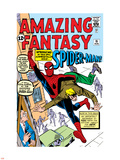 Amazing Fantasy No.15 Cover: Spider-Man Swinging Plastic Sign by Steve Ditko