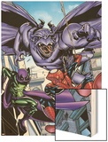 Marvel Adventures Spider-Man No.47 Cover: Spider-Man Wood Print by Sanford Greene